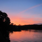 Port Eliot at sunset on Saturday