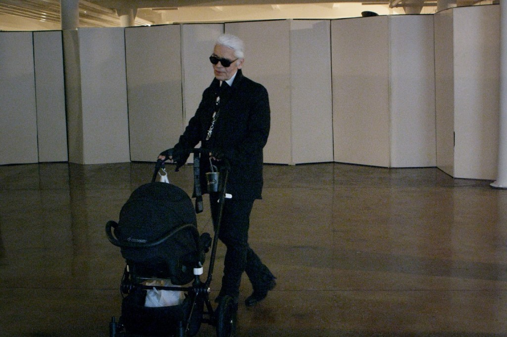 Mademoiselle C Karl Lagerfeld Pushing a stroller Orange Juice and Biscuits Carine Roitfeld