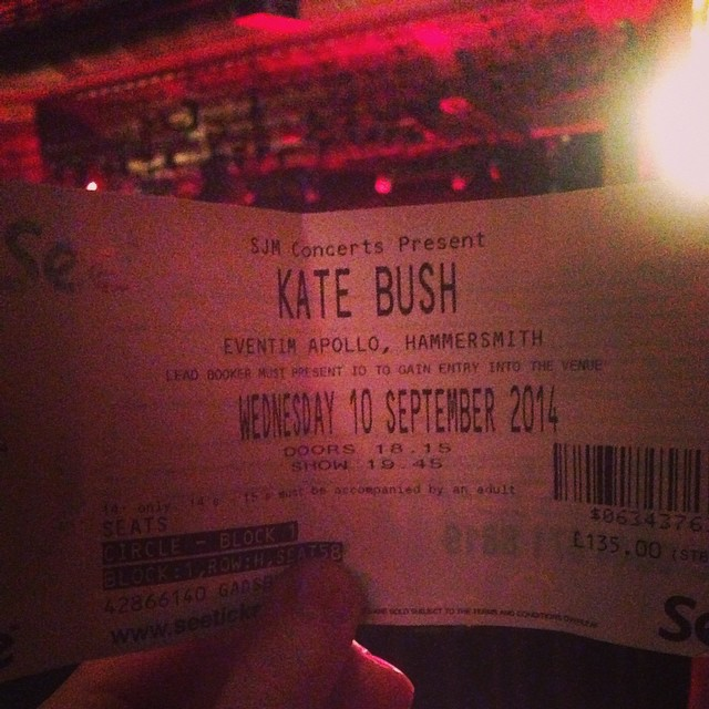 kate bush ticket
