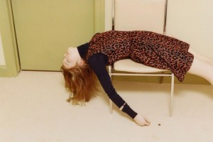 An image from VB's Victoria collection lookbook last year featuring a model looking a bit tired.